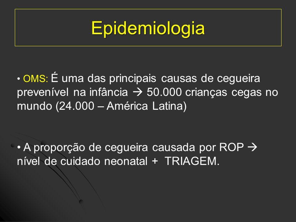 Epidemiologia OMS: É uma das principais causas de cegueira. prevenível na infância  50.000 crianças cegas no mundo (24.000 – América Latina)