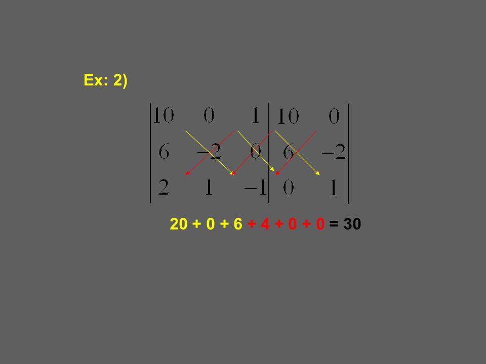 Ex: 2) 20 + 0 + 6 + 4 + 0 + 0 = 30