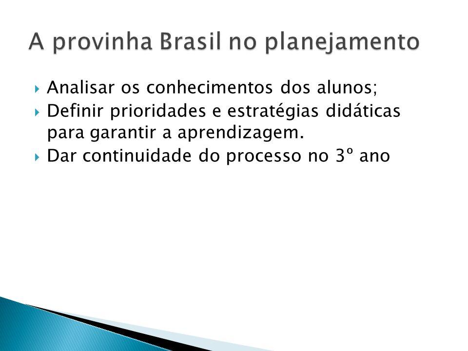 A provinha Brasil no planejamento