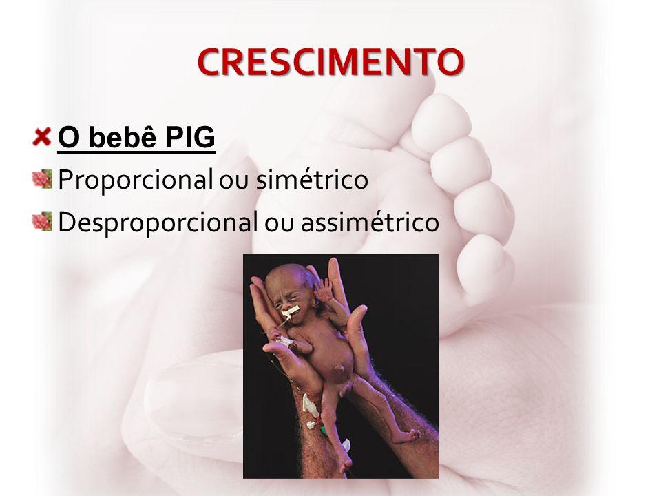 CRESCIMENTO O bebê PIG Proporcional ou simétrico