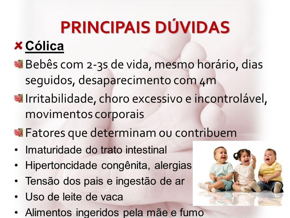 PRINCIPAIS DÚVIDAS Cólica