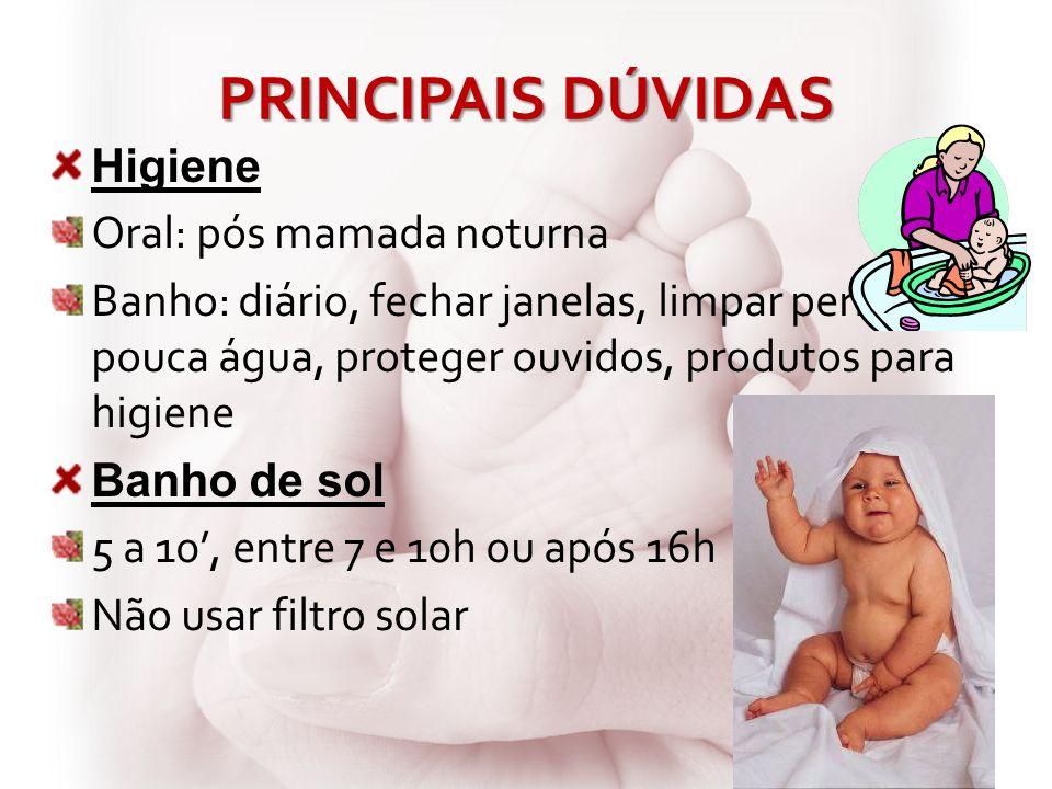 PRINCIPAIS DÚVIDAS Higiene Oral: pós mamada noturna