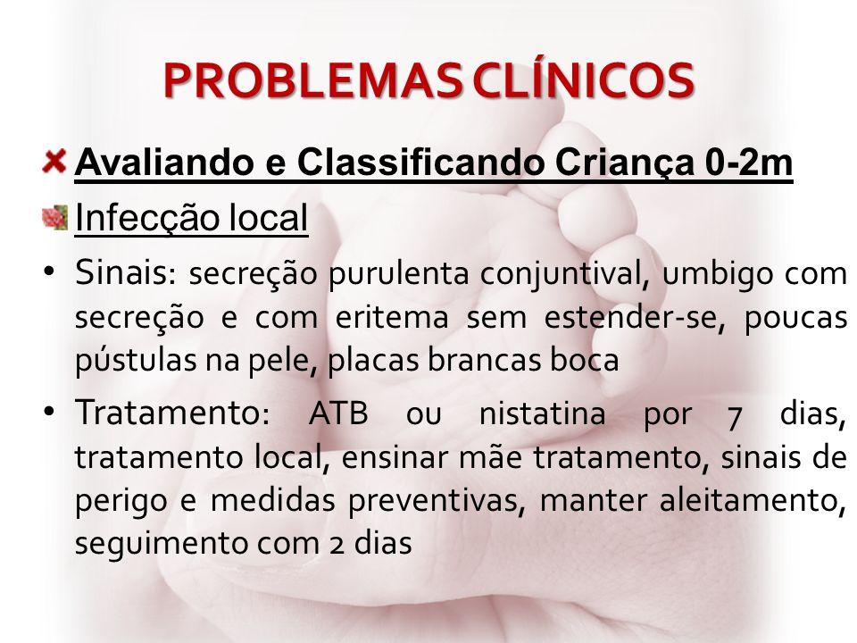 PROBLEMAS CLÍNICOS Avaliando e Classificando Criança 0-2m