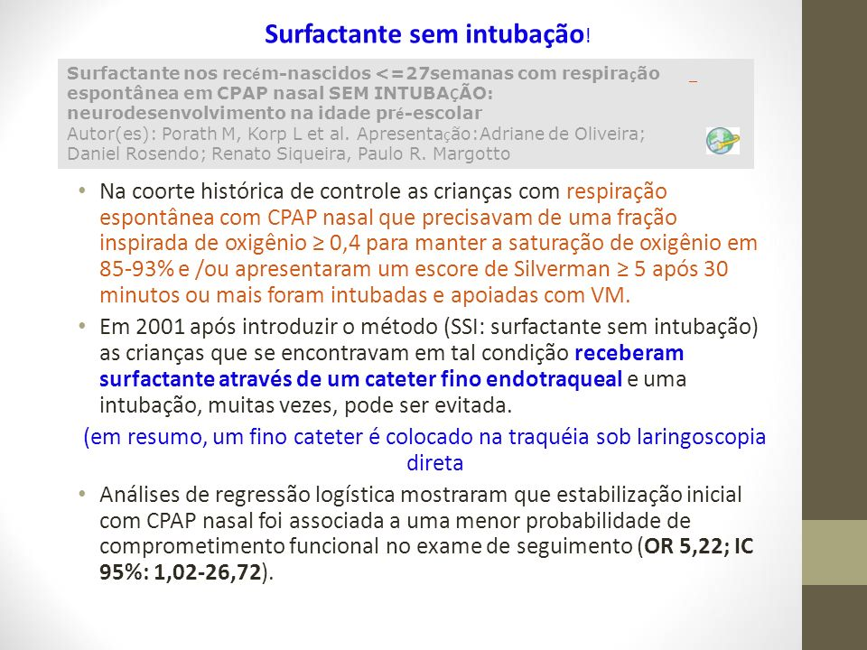 Surfactante sem intubação!