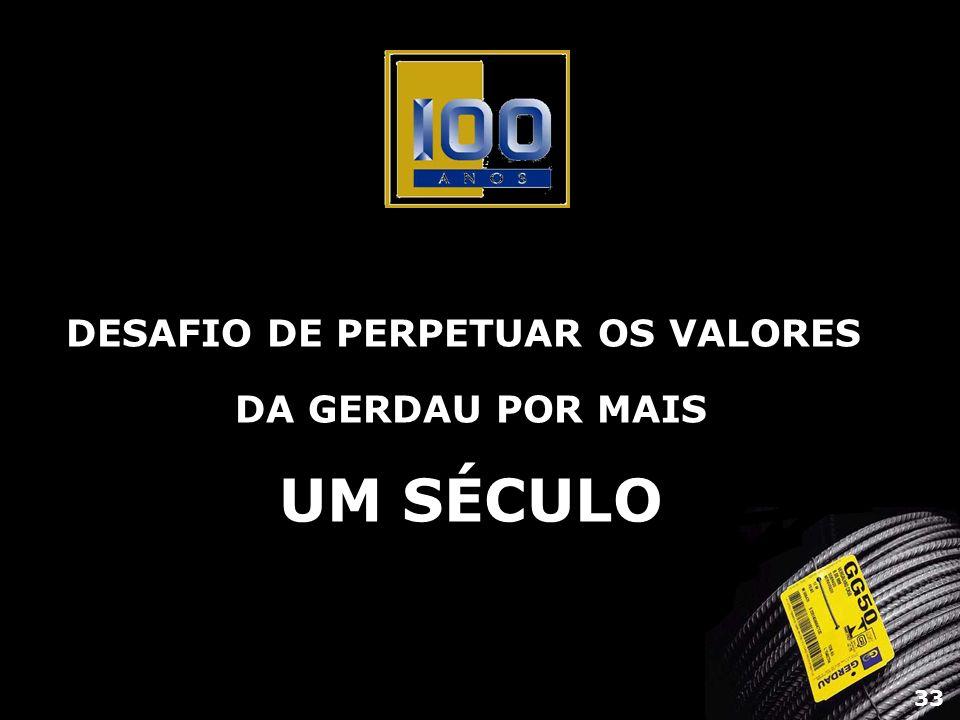 DESAFIO DE PERPETUAR OS VALORES DA GERDAU POR MAIS