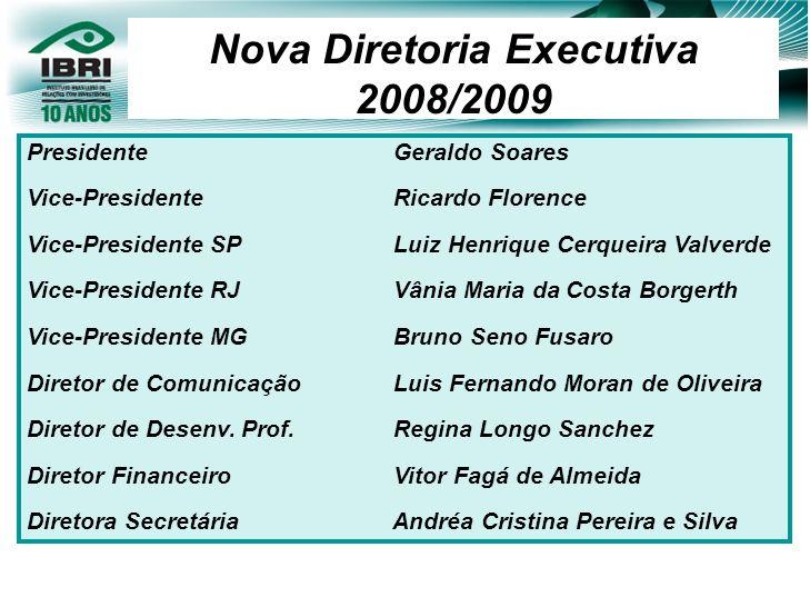 Nova Diretoria Executiva 2008/2009