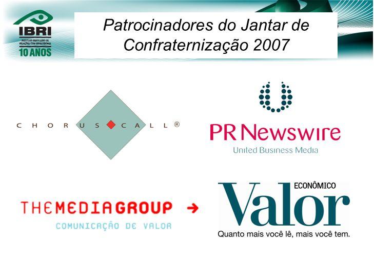 Patrocinadores do Jantar de Confraternização 2007
