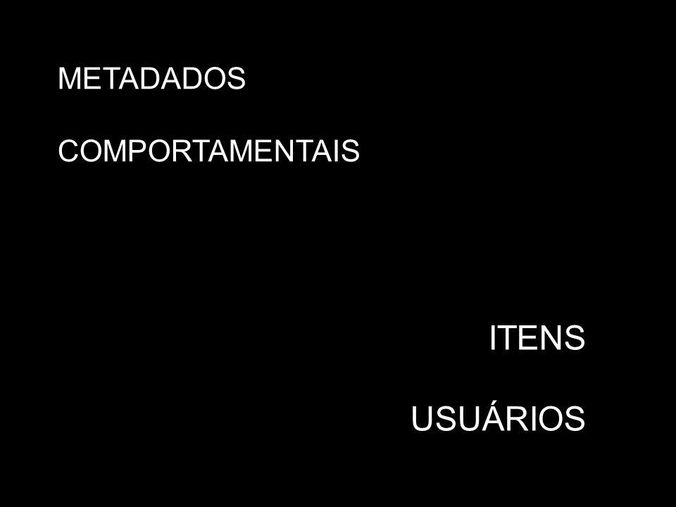 METADADOS COMPORTAMENTAIS ITENS USUÁRIOS