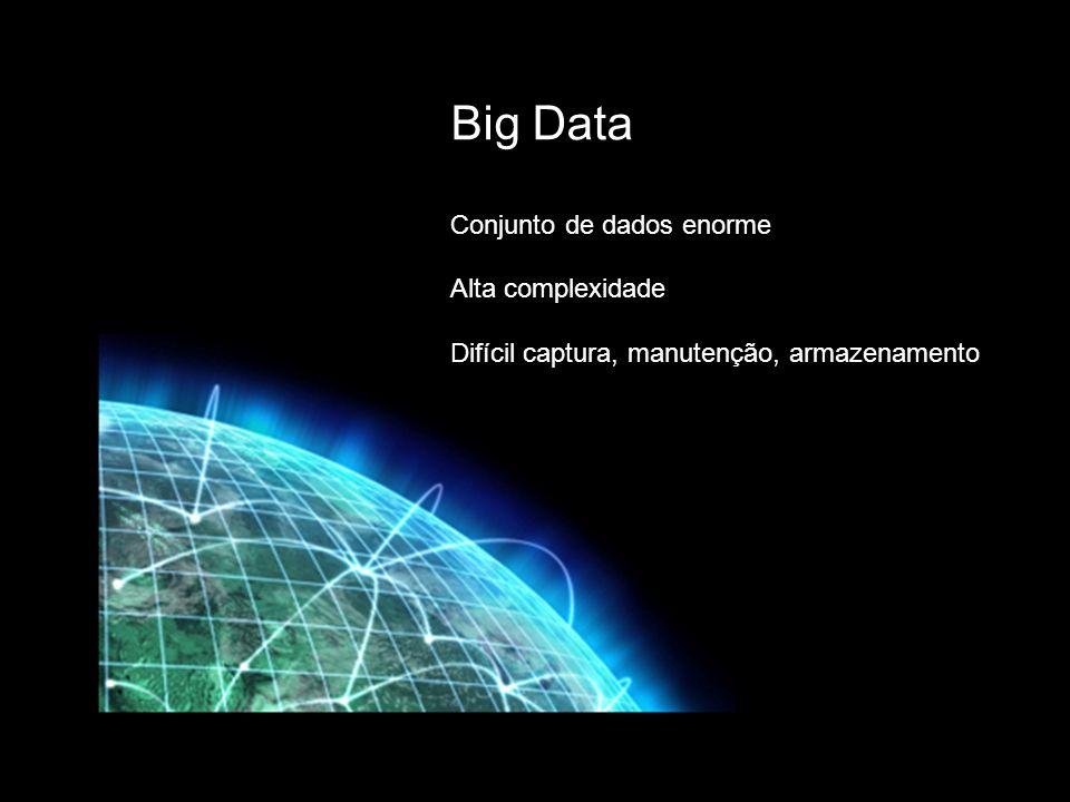 Big Data Conjunto de dados enorme Alta complexidade