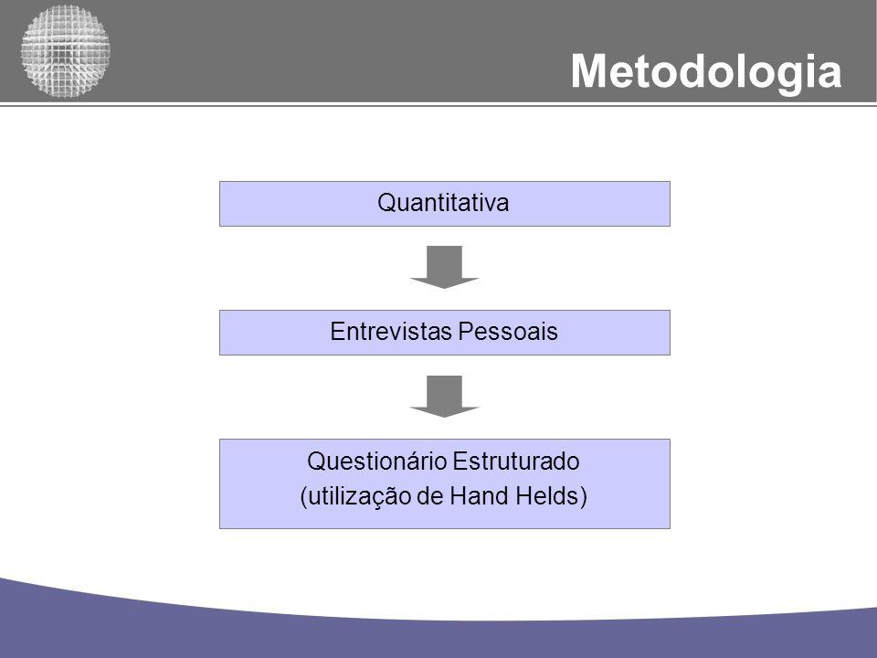 Metodologia Quantitativa Entrevistas Pessoais Questionário Estruturado