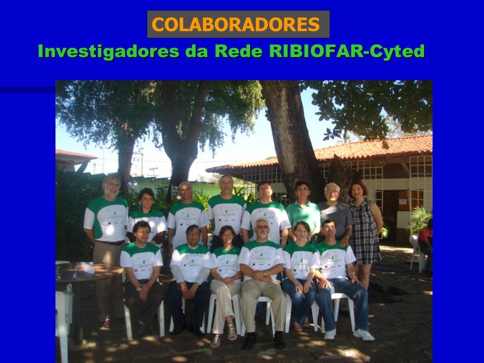 COLABORADORES Investigadores da Rede RIBIOFAR-Cyted