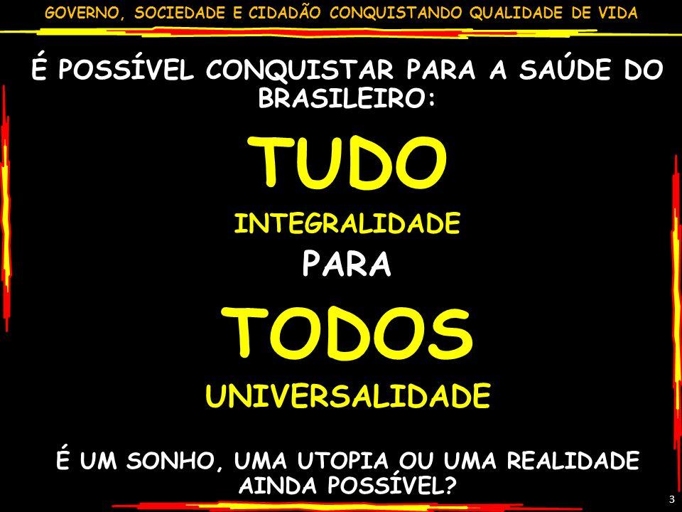 TUDO TODOS PARA UNIVERSALIDADE