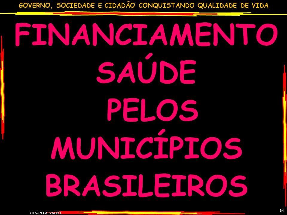 FINANCIAMENTO SAÚDE PELOS MUNICÍPIOS BRASILEIROS