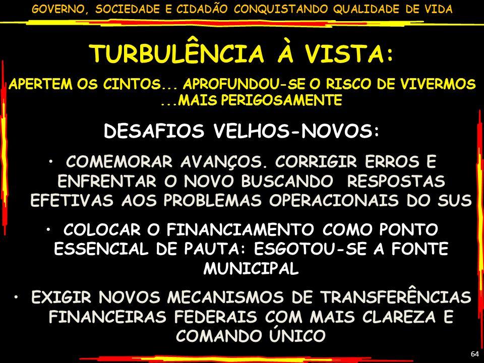 DESAFIOS VELHOS-NOVOS: