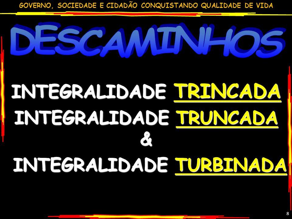 INTEGRALIDADE TRINCADA INTEGRALIDADE TRUNCADA &