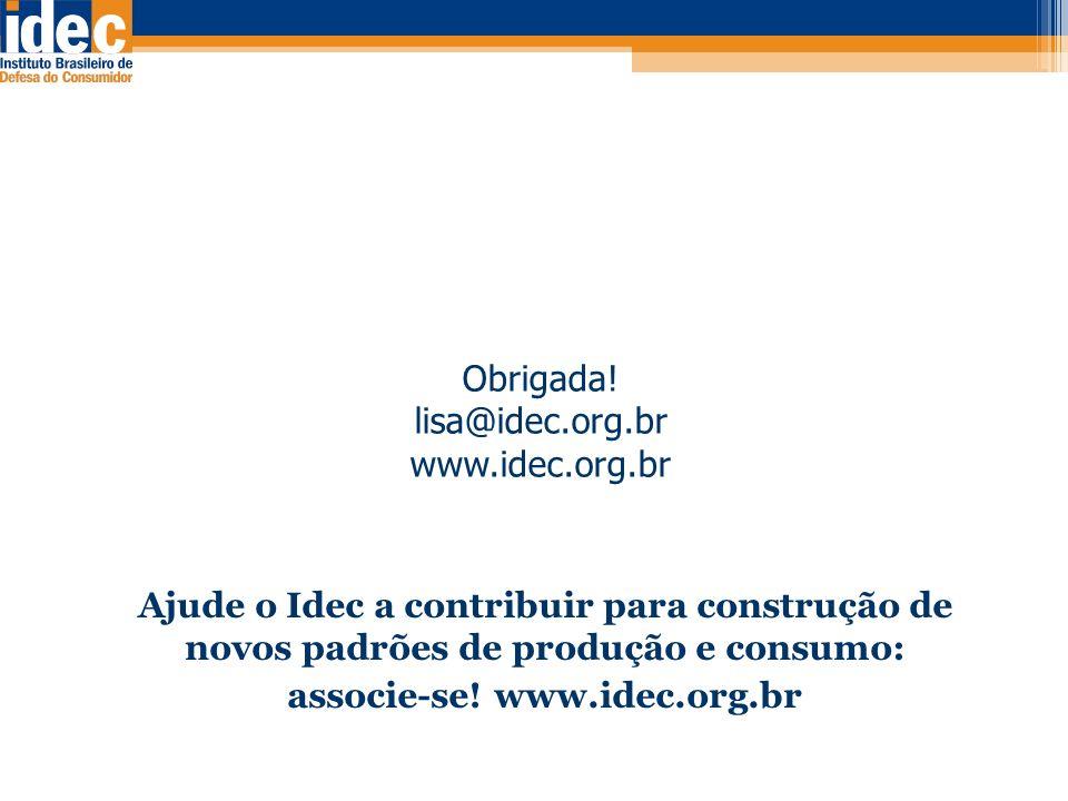 associe-se! www.idec.org.br