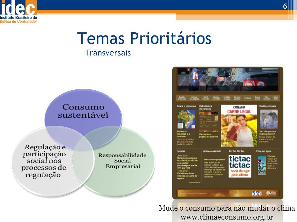 Temas Prioritários Transversais