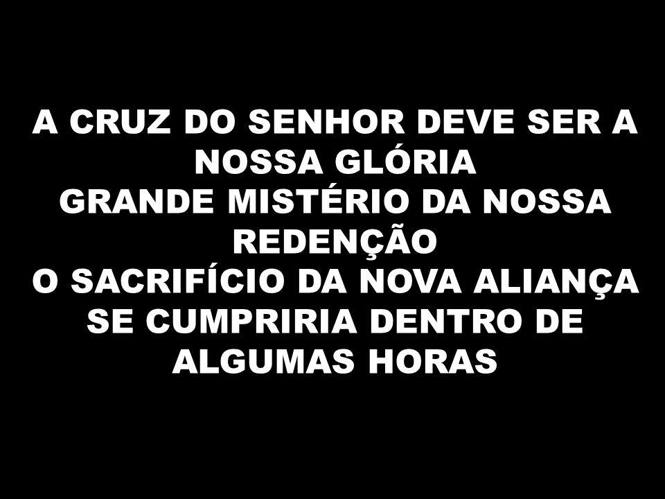 A CRUZ DO SENHOR DEVE SER A NOSSA GLÓRIA
