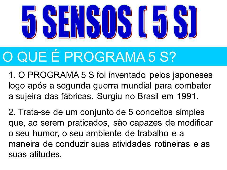 O QUE É PROGRAMA 5 S 5 SENSOS ( 5 S)