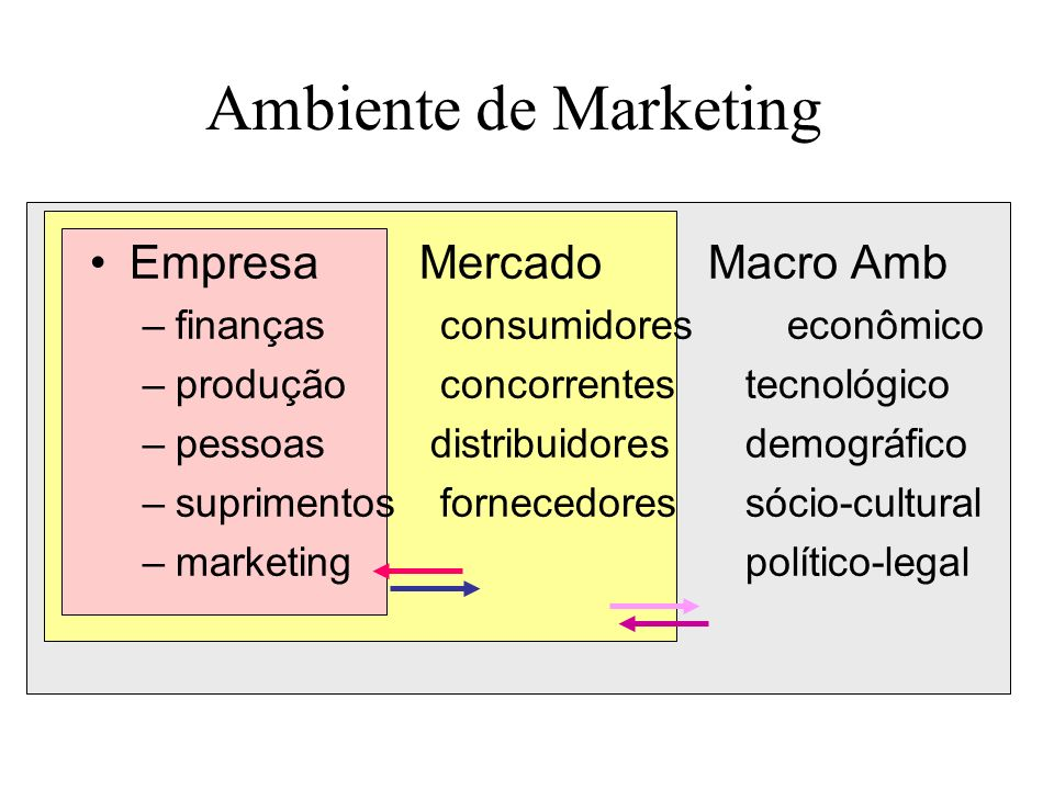 Ambiente de Marketing Empresa Mercado Macro Amb