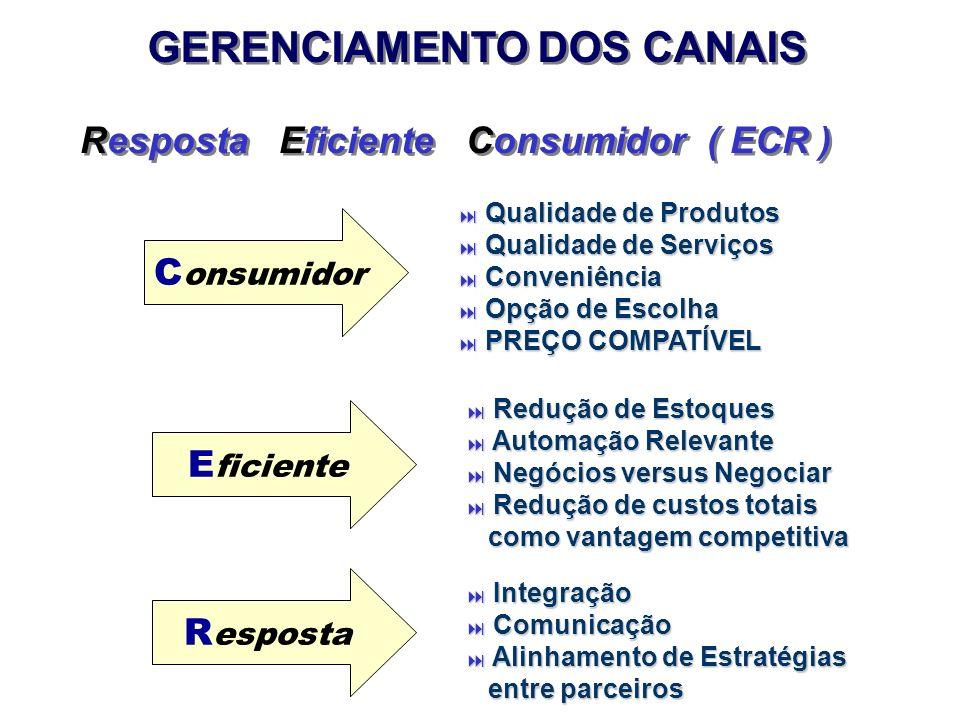 GERENCIAMENTO DOS CANAIS Resposta Eficiente Consumidor ( ECR )