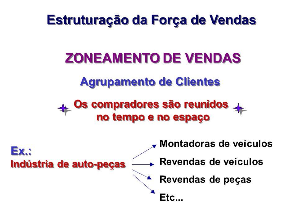 Estruturação da Força de Vendas ZONEAMENTO DE VENDAS