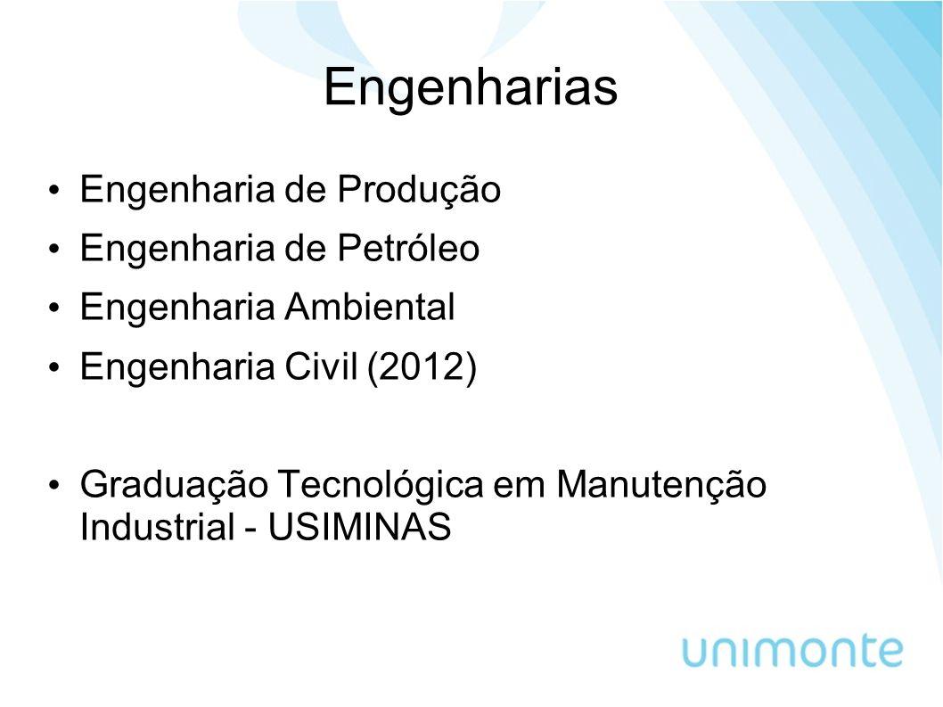 Engenharias Engenharia de Produção Engenharia de Petróleo