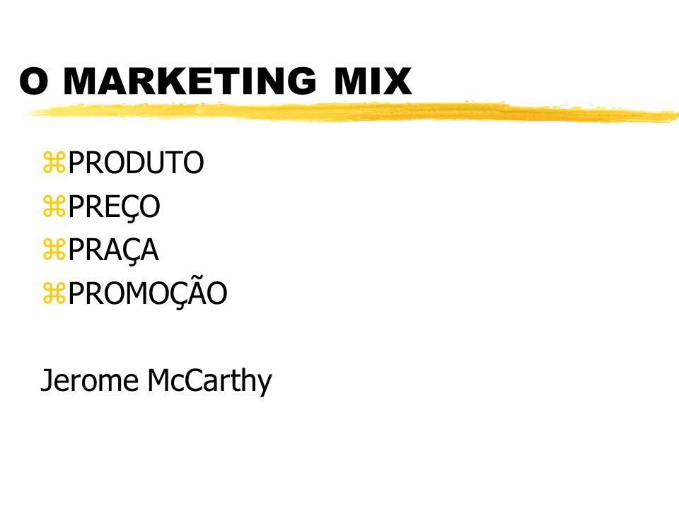O MARKETING MIX PRODUTO PREÇO PRAÇA PROMOÇÃO Jerome McCarthy