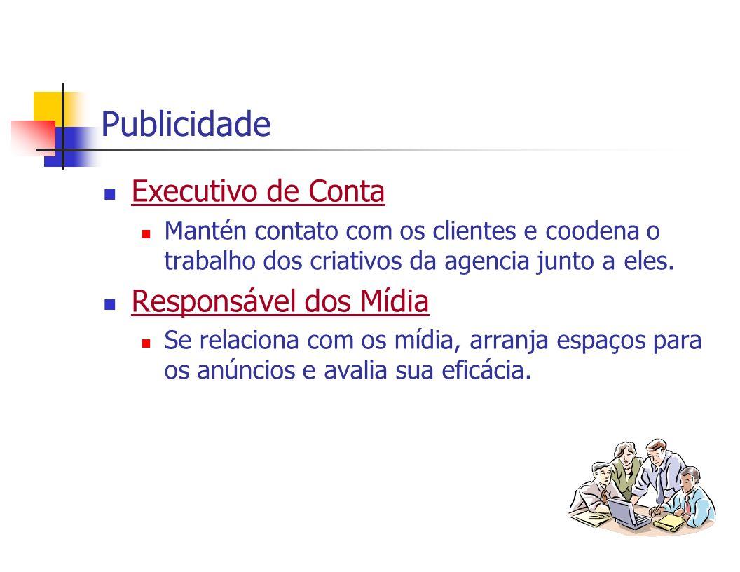 Publicidade Executivo de Conta Responsável dos Mídia