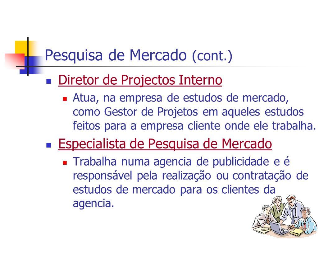 Pesquisa de Mercado (cont.)
