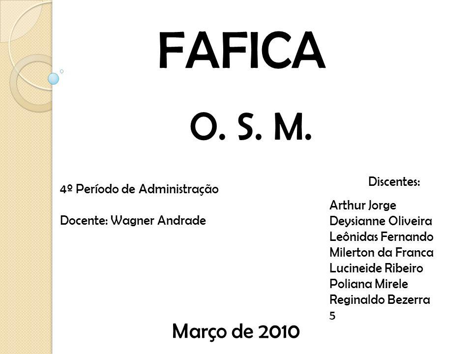 FAFICA O. S. M. Março de 2010 Discentes: 4º Período de Administração