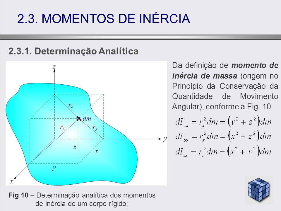 2.3. MOMENTOS DE INÉRCIA 2.3.1. Determinação Analítica