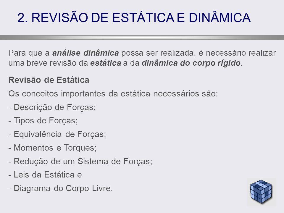 2. REVISÃO DE ESTÁTICA E DINÂMICA