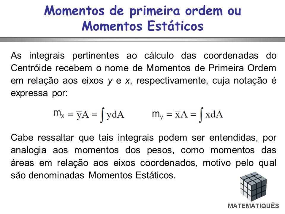 Momentos de primeira ordem ou Momentos Estáticos
