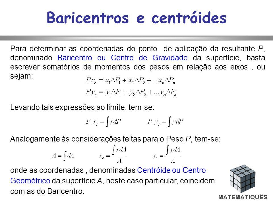 Baricentros e centróides