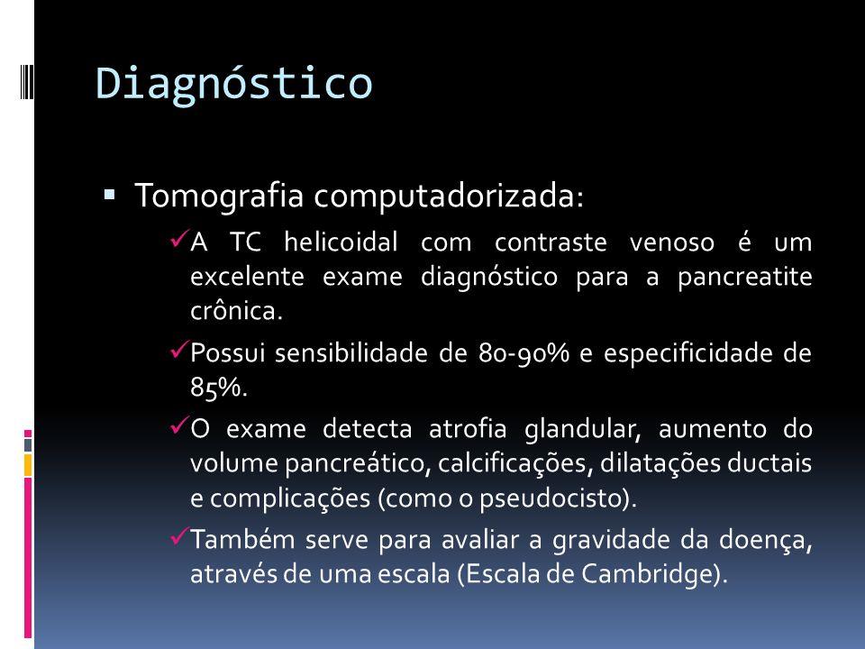 Diagnóstico Tomografia computadorizada:
