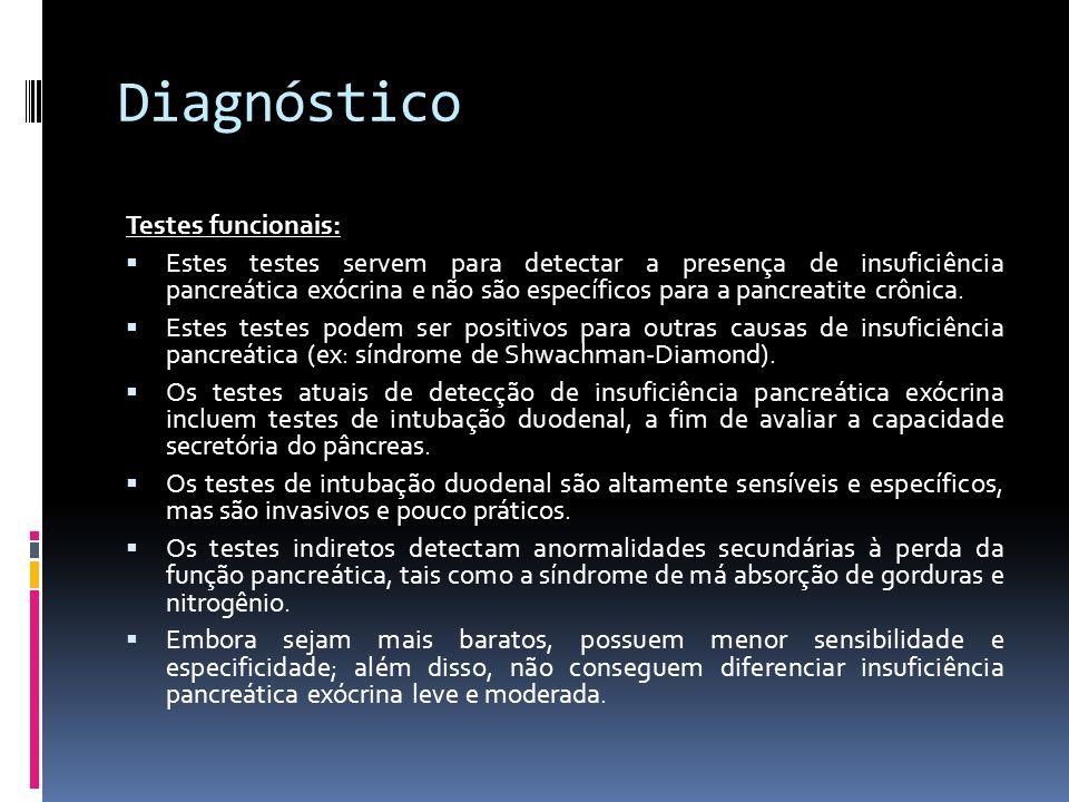 Diagnóstico Testes funcionais: