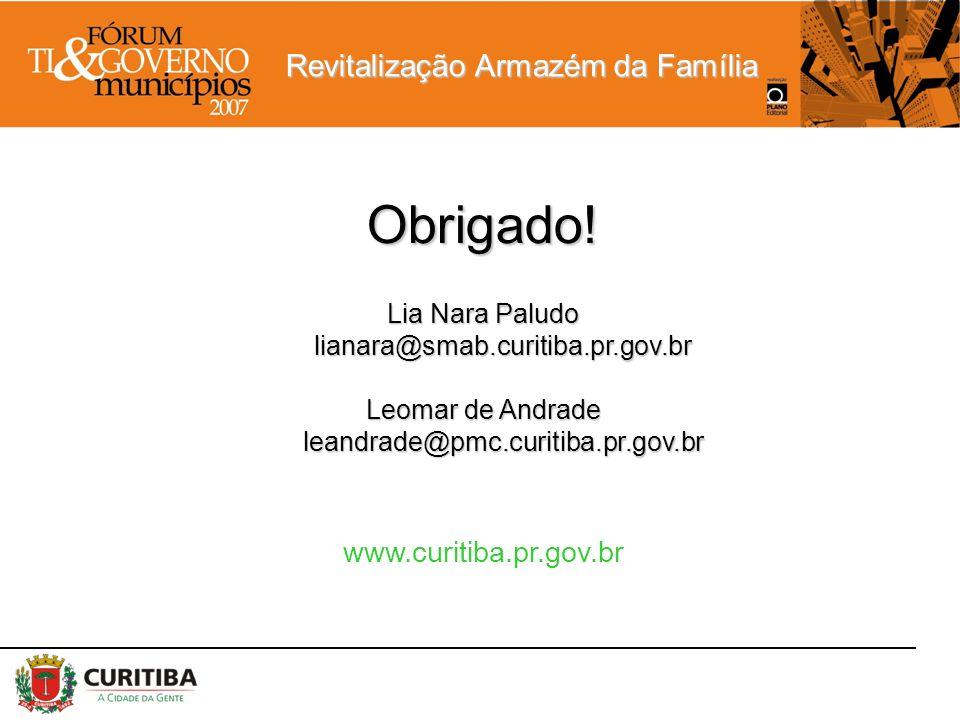 Obrigado! www.curitiba.pr.gov.br