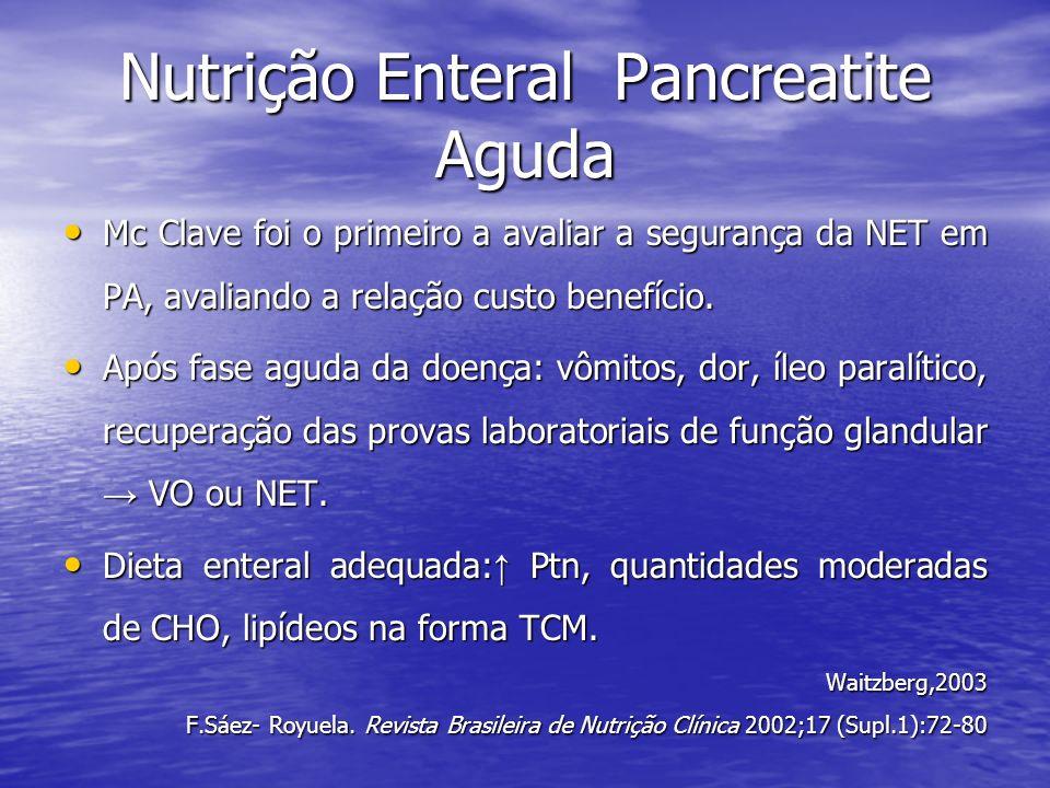 Nutrição Enteral Pancreatite Aguda