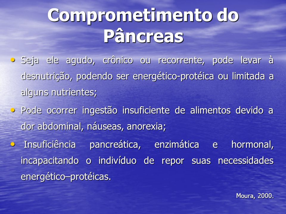 Comprometimento do Pâncreas