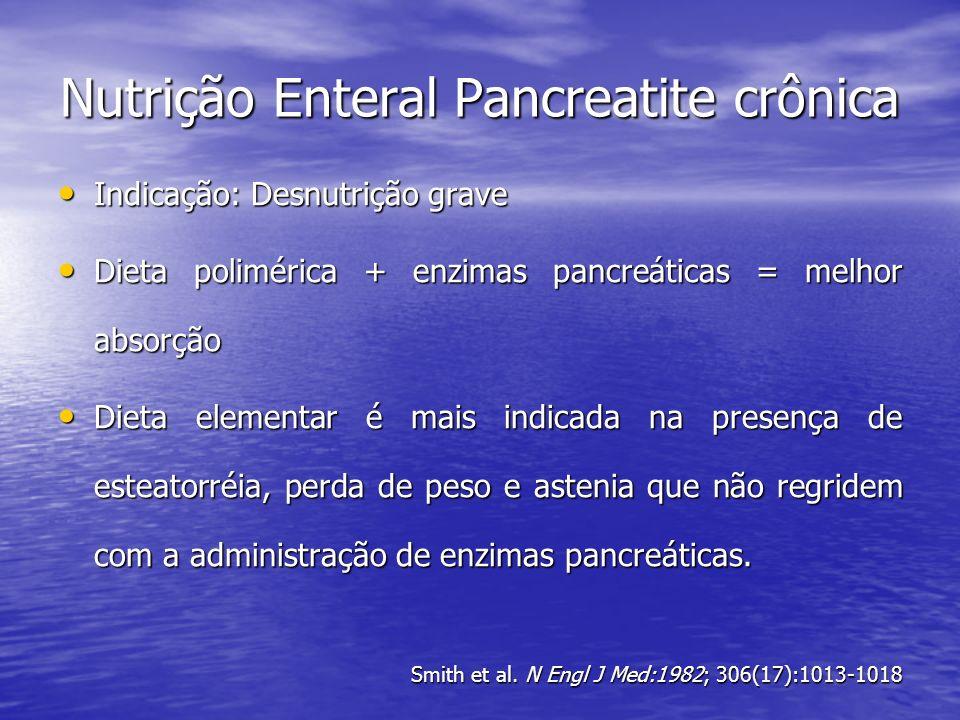Nutrição Enteral Pancreatite crônica
