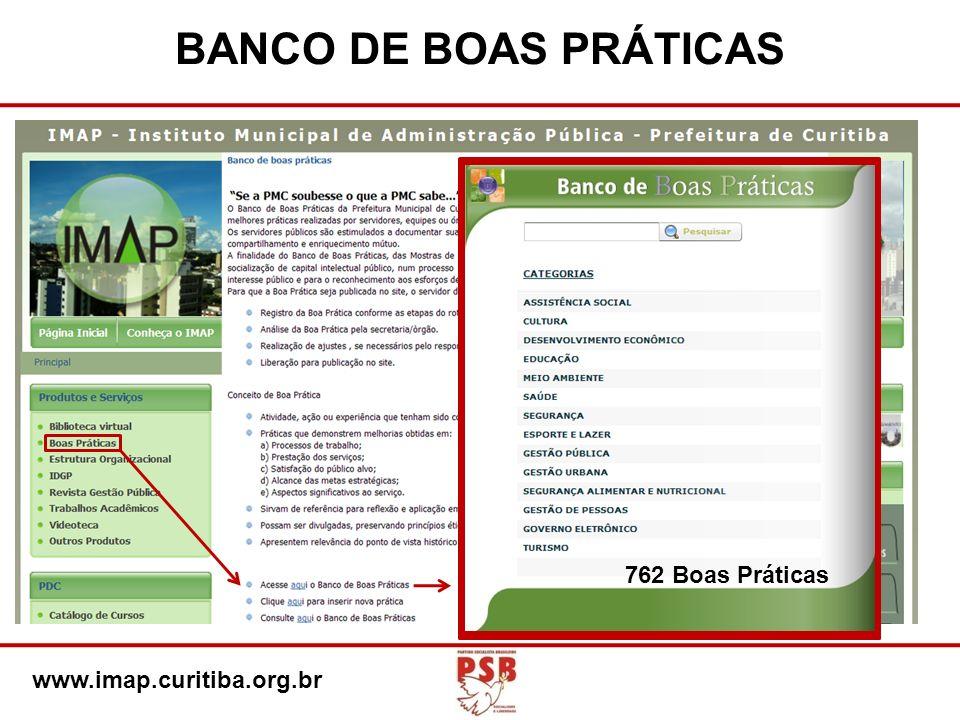 BANCO DE BOAS PRÁTICAS 762 Boas Práticas www.imap.curitiba.org.br