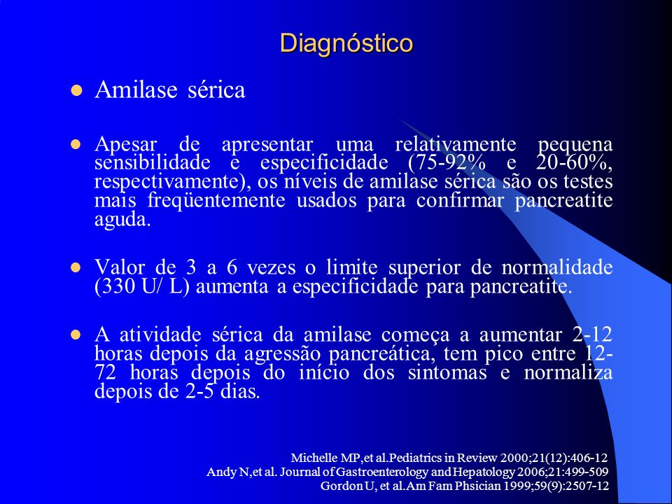 Diagnóstico Amilase sérica