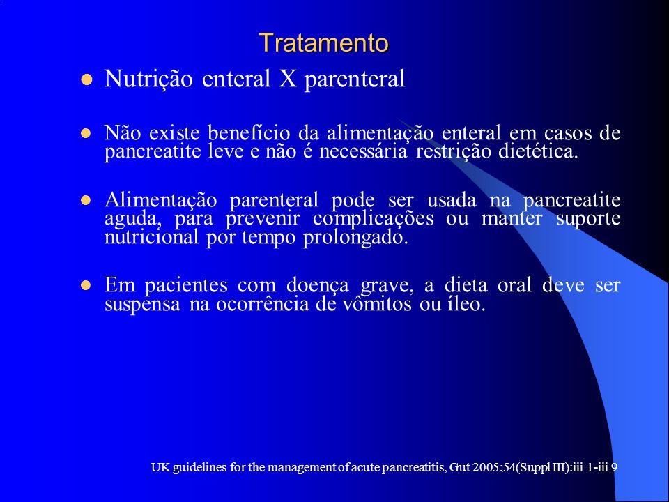 Nutrição enteral X parenteral