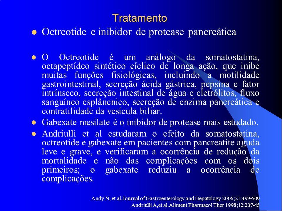 Octreotide e inibidor de protease pancreática