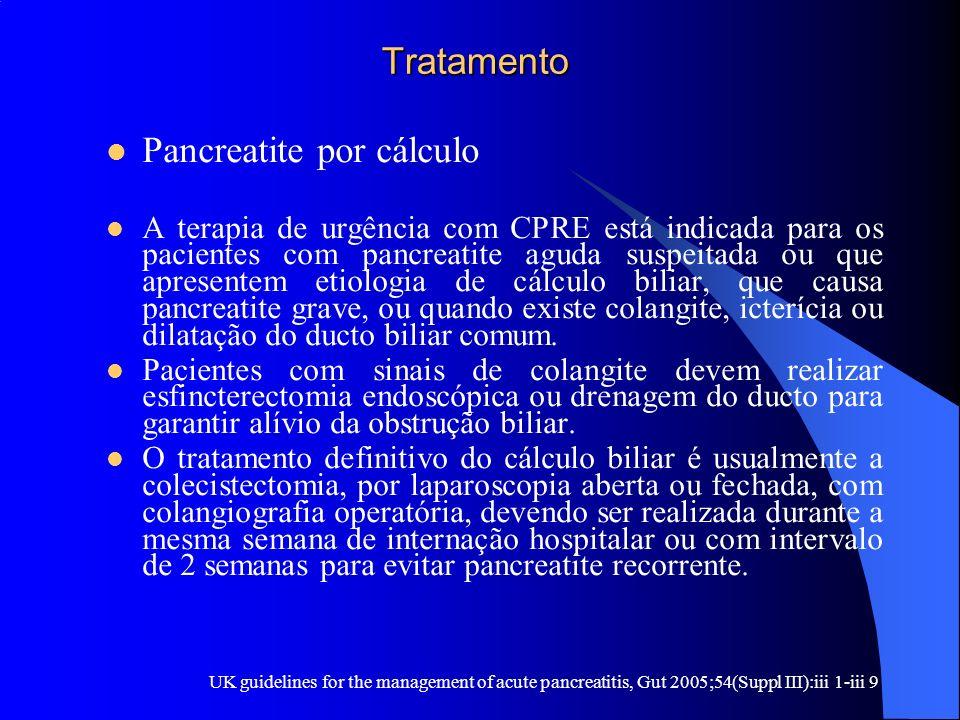 Pancreatite por cálculo