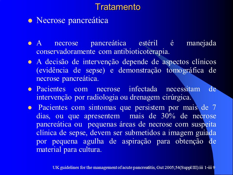Tratamento Necrose pancreática