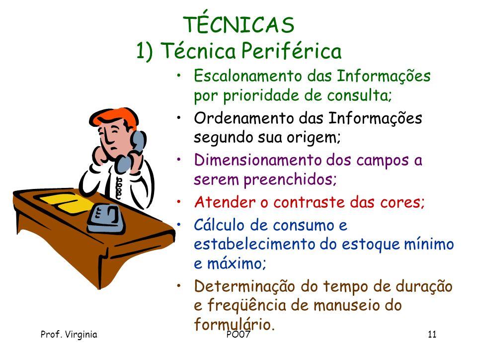 TÉCNICAS 1) Técnica Periférica