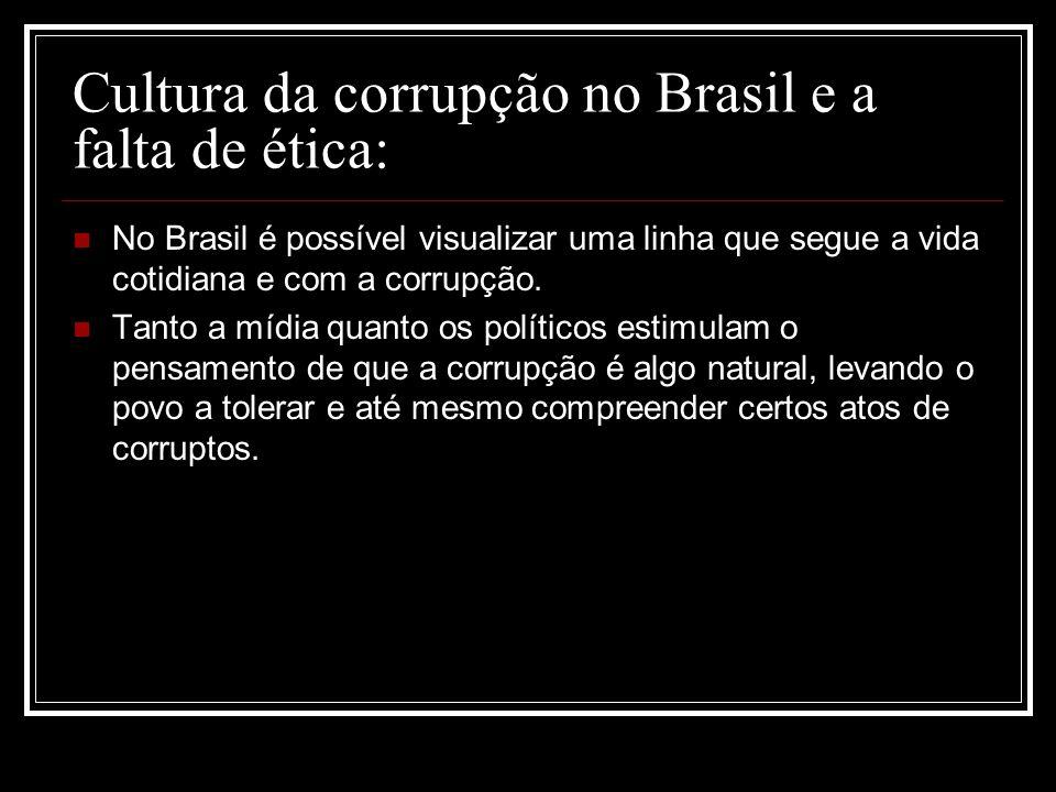 Cultura da corrupção no Brasil e a falta de ética: