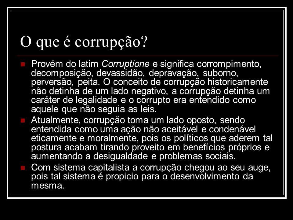 O que é corrupção